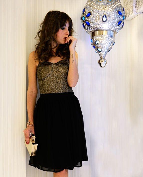 0e29208dc lovely pepa vestido negro y dorado nochevieja online